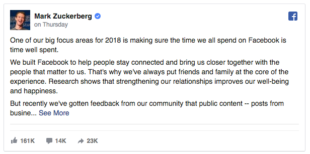 Facebook pages news feed changes